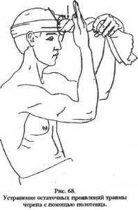 Устранение напряжений с помощью полотенца. рис 3.
